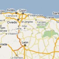 Mapa do norte de Espanha