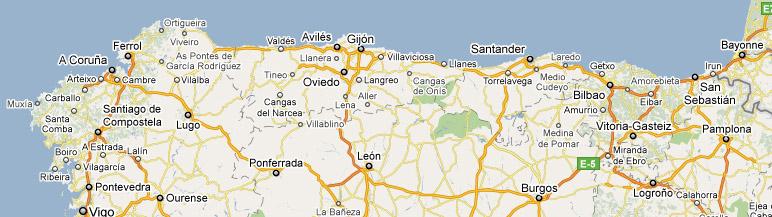 mapa norte espanha De Portugal até Saint Jean Pied de Port em automóvel   Caminho  mapa norte espanha
